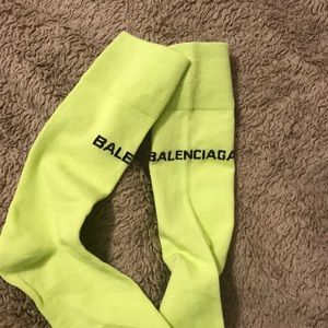 Balenciaga neon socks